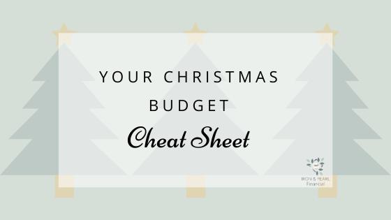 Christmas Budget Cheat Sheet