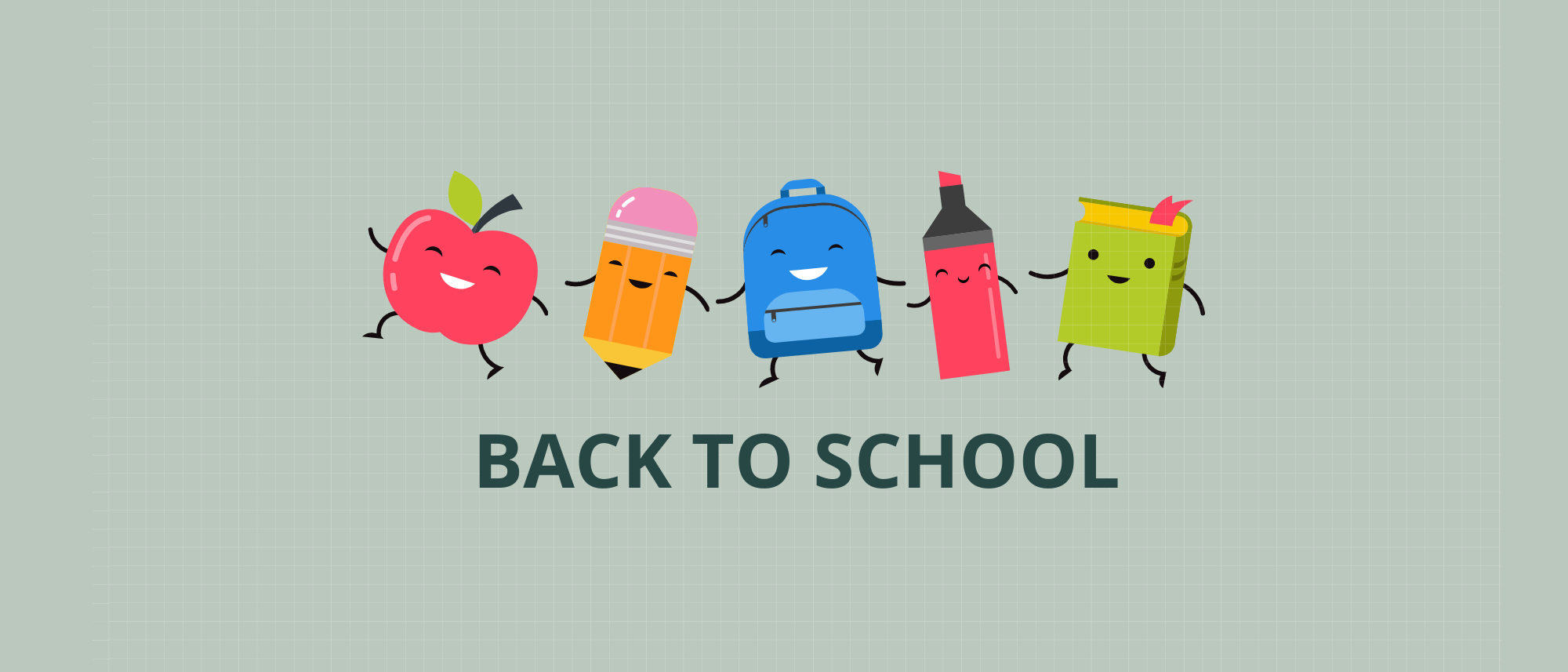 Back to school banner 2021